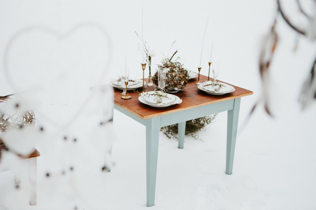 Green Wedding Winterhochzeit Tischdeko Inspiration